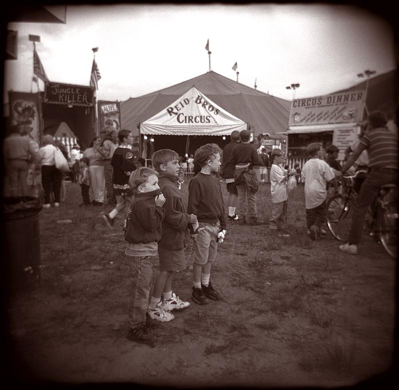 holga toy camera boys at the circus