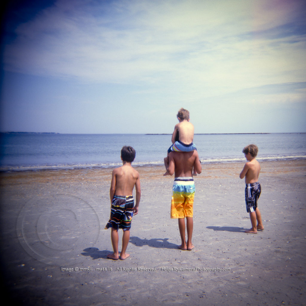 matt lit holga toy camera photography Boys Revere Beach
