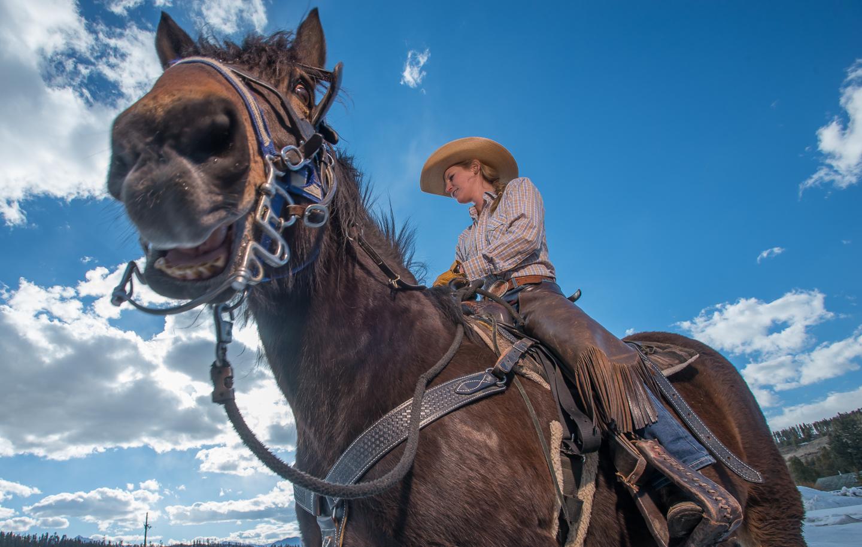 cowgirl horse equestrian western