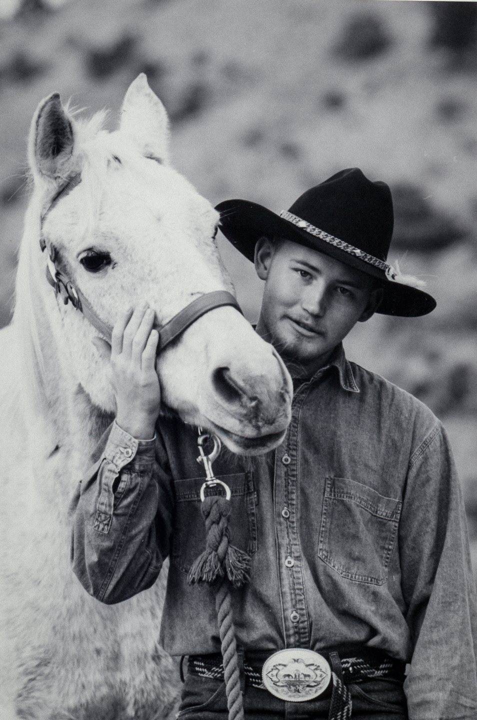 cowboy with horse